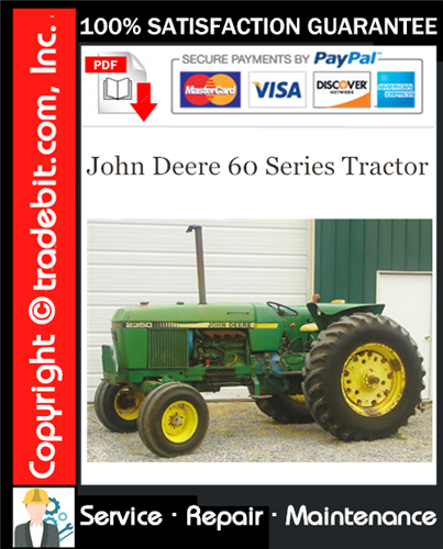 Thumbnail John Deere 60 Series Tractor Service Repair Manual Download ★