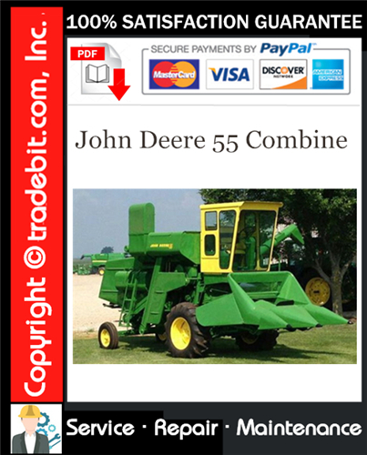 Thumbnail John Deere 55 Combine Service Repair Manual Download ★