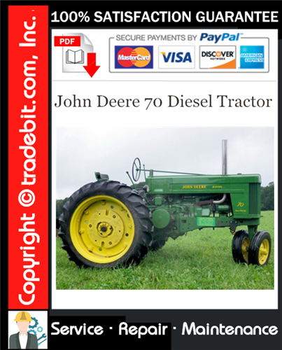Thumbnail John Deere 70 Diesel Tractor Service Repair Manual Download ★