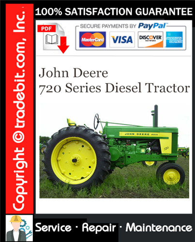 Thumbnail John Deere 720 Series Diesel Tractor Service Repair Manual Download ★