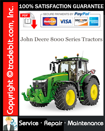 Thumbnail John Deere 8000 Series Tractors Service Repair Manual Download ★