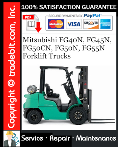 Thumbnail Mitsubishi FG40N, FG45N, FG50CN, FG50N, FG55N Forklift Trucks Service Repair Manual Download ★