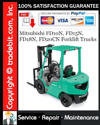 Thumbnail Mitsubishi FD10N, FD15N, FD18N, FD20CN Forklift Trucks Service Repair Manual Download ★